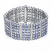 44.96ct Tanzanite & Diamond Bracelet