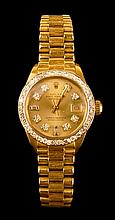 18K Ladies Rolex Oyster Perpetual, Datejust