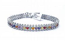 7.82 ct Sapphires & 1.01 ct Diamond Bracelet