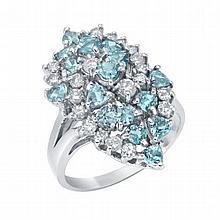 2.23 ct Topaz  and 0.82 ct Diamond  Ring
