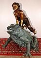 Leapfrog Bronze Statue 47