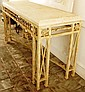 Marble Top / Iron Base Console Table