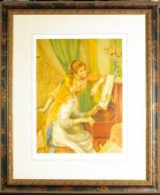 August Renoir, Hand Signed Color Litho