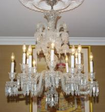 Baccarat Crystal Chandelier  -Diamants Carres