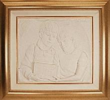 Bill Mack Plaster Relief Sculpture
