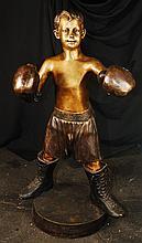 Boxing Boy Bronze Statue 42