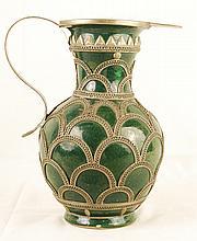 Antique Moroccan Ceramic Vase from Fez