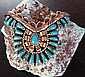 Genuine Navajo, Turquoise & Sterling Silver Bracelet Signed