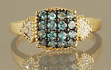 0.52CT  ALEXANDRITE & DIAMOND RING