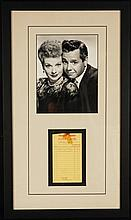 Lucille Ball Hand Signed Market Receipt