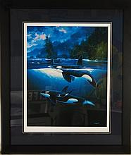 Wyland, Killer Whales, Hand Signed and Numbered