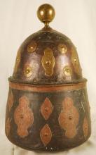 Vintage Covered Copper Bowl 19