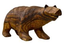Hand Carved Wooden Bear Sculpture 13