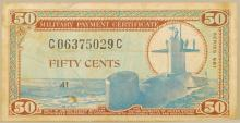 MPC Military Payment Certification 50cents Note