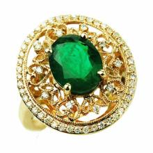 2.84ct Emerald & Diamond Ring