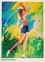 Leroy Neiman, Janie Blalock poster