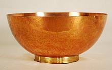 Dirk Van Erp bowl, footed shape,copper