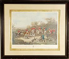 The Bury Hunt 1840 Engraved Proof Print