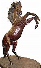 Monumental Bronze Horse