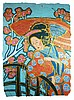 Original Japanese Geisha Art Hand Painted Signed