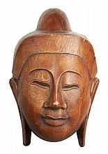 Hand Carved Wood Thai Ceremonial Mask
