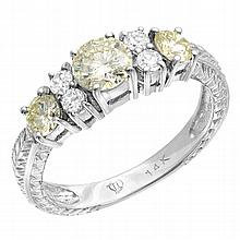 1.21 Carat Diamond Ring 14K WG