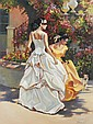 ON THE MASCARAED, Original Oil, Hand Signed