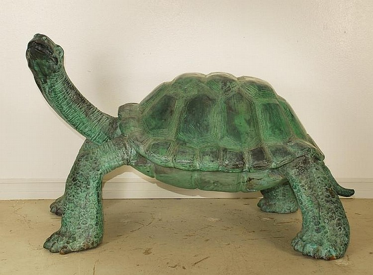 Monumental Bronze Tortoise Sculpture