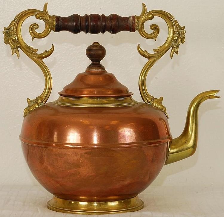 Antique Copper Teapot