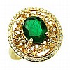 2.84ct Emerald & Diamond Ring