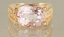 6.23ct KUNZITE & DIAMOND RING