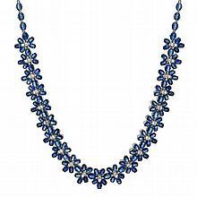 94.30ct Sapphire & 1.35ct Diamond Necklace