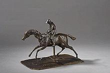Edgar DEGAS (1834-1917)  Cavalier  Bronze à patine brun-vert nuancé