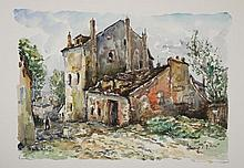 Robert L.P. LAVOINE (1916-1999)   Montmartre, la maison de Mimie Pinson