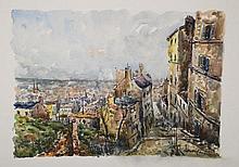 Robert L.P. LAVOINE (1916-1999)   Ménilmontant, le passage Julien Lacro