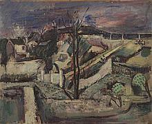 Joseph PRESSMANE (1904-1967)   Paysage   Huile sur panneau, numérot