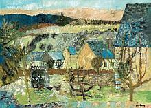 Guy BARDONE (Né en 1927)  Paysage  Huile sur toile, signée en bas à
