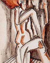 Ossip ZADKINE (1890-1967) Couple, circa 1923