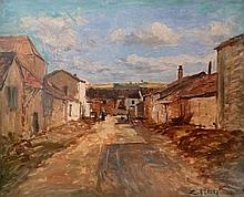 Edmond Marie PETITJEAN (1844-1925) Cour de ferme Huile sur toile, signée en