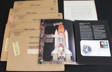 Six STS-8 Flown Covers, Presentations and Envelopes
