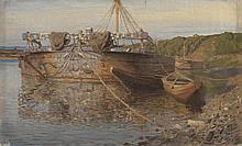 POLENOV, VASILY (1844-1927), Barge on the River Oka