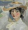 LARIONOV, MIKHAIL (1881-1964), Portrait of Natalia Goncharova, signed., Michel Larionov, £0