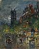 * KOROVIN, KONSTANTIN (1861-1939), La Tour Saint Jacques, signed and inscribed