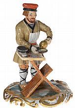 A Porcelain Figurine of a Sugar Vendor