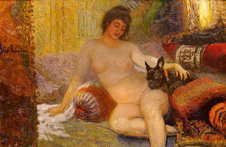 Portrait of Madame Alisa Rivoir with a Lapdog