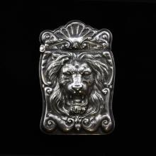 Sterling 1900 Lion Vesta Case