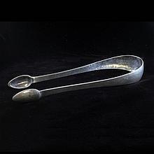 Silver Hammered Finish Sugar Tongs