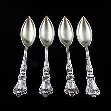 4 Baker-Manchester Co. Poppy Fruit/ Orange Spoons