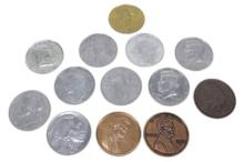 Group of 13 Oversized Replica Coins