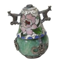 Chinese Cloissone And Hardstone Snuff Bottle